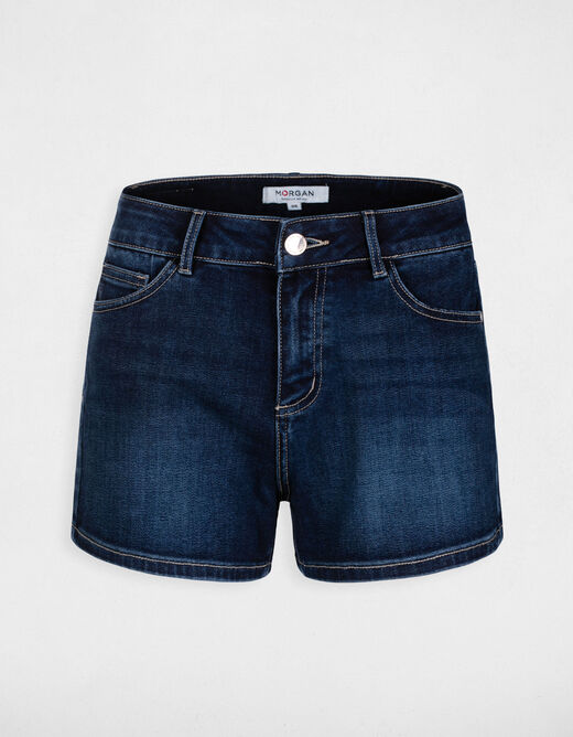 Short hoge slim taille in jeans jean stone vrouw