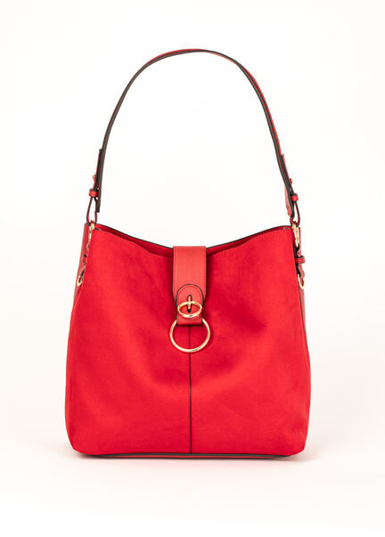 Sac a bandouliere carre rouge femme