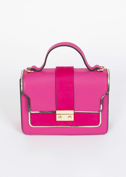 Sac rectangulaire a bandouliere rose femme