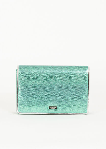 Sac bandouliere chaine imprime python turquoise femme