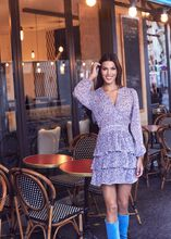 Robe evasee a volants imprime floral multico femme