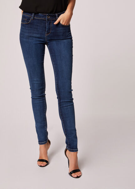 Jeans slim taille standard a poches jean stone femme