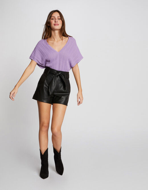 Pull manches courtes amples parme femme